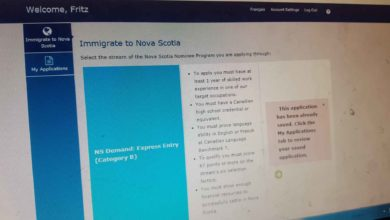 Photo of Application in Nova Scotia Demand : Express Entry Category B