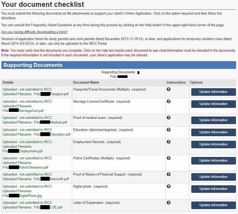 cic pr document checklist
