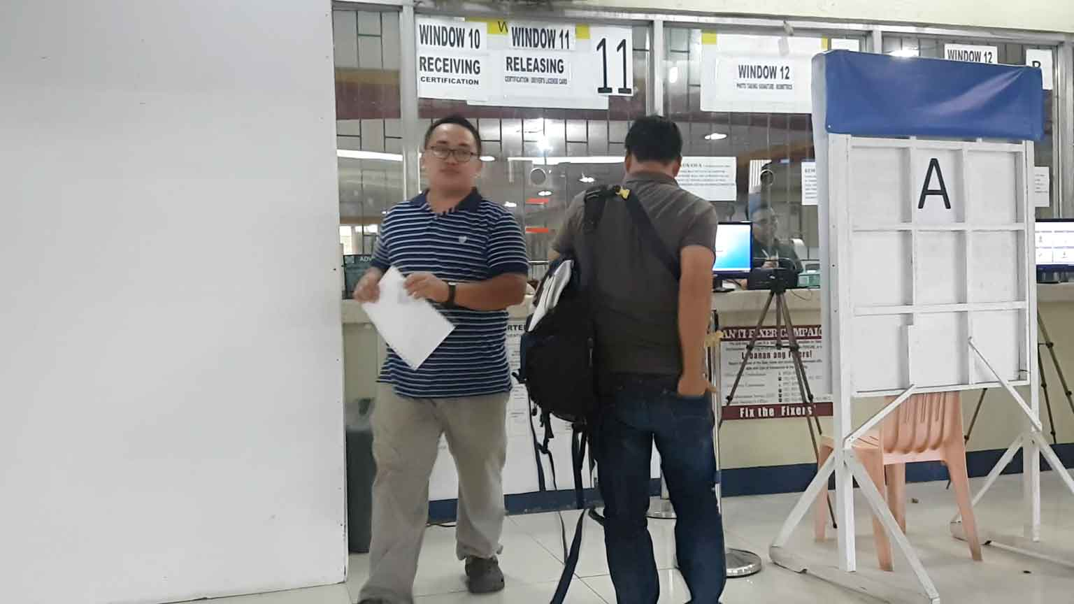 LTO Driver's License certification and the certificate of No Apprehension