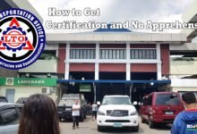 Photo of LTO Driver's License Certification and Certificate of No Apprehension