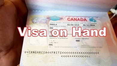 Photo of Our Canadian Immigrant Visa on Hand